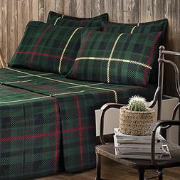 Brielle 100-Percent Cotton Flannel 6 Piece Sheet Set, King,