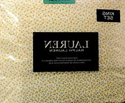 Lauren Ralph Lauren 4 Piece Cotton King Sheet Set Small Yell