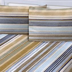 Mellanni 100% Cotton 4 Piece Printed Flannel Sheets Set - De
