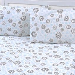 Mellanni 100% Cotton Printed Flannel Pillowcase Set - Warm -