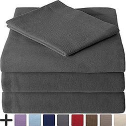 Ivy Union 100% Cotton Velvet Flannel Sheet Set - Extra Soft
