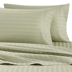 Wamsutta Damask Stripe 500-Thread-Count PimaCott King Sheet
