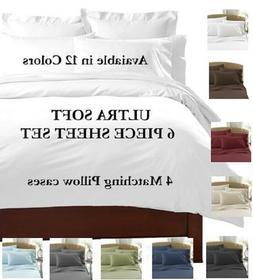 2100 COUNT 6 PIECE BED SHEET SET DEEP POCKET SHEETS SOFTER T