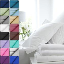 Deep Pocket 4 Piece Bed Sheet Set Egyptian Comfort 1800 Coun