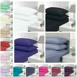 Deep Pocket Bed Sheet Set Fitted Coverlet Cover &Pillowcase