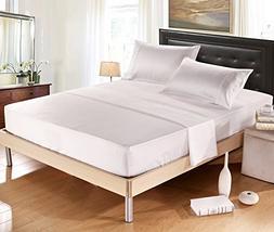 Delbou Tree Silky Soft Solid Matte-Satin Bed Sheet Sets Shin