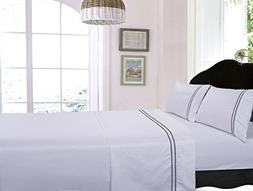 Dot Embroidered Egyptian Cotton 400 Thread Count Deep Pocket