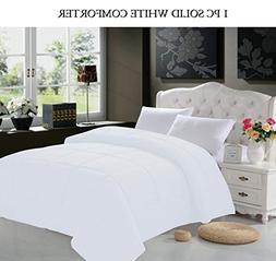 Elegant Comfort White Down Alternative Comforter/Duvet Cover