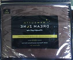 Wamsutta Dream Chocolate Brown King Sheet Set 1000 Thread Co