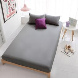 DropShip Pure Color Hotel Home Fitted <font><b>Sheet</b></fo