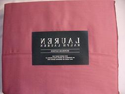 RALPH LAUREN Dunham Sateen 300 TC Red Slate Sheet Set, Queen