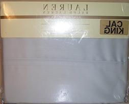 Lauren Ralph Lauren Dunham Sateen Cal King Silver Sheet Set