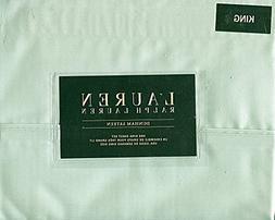 Ralph Lauren Dunham Sateen Chalet Green Sheet Set, King Size