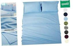 EASELAND 6-Pieces King Size Bed Sheet Set 1800 Series Microf