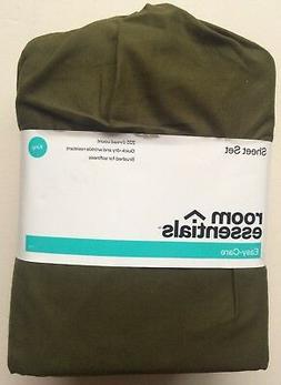 Room Essentials Easy Care King Size Sheet Set - Color: Olive
