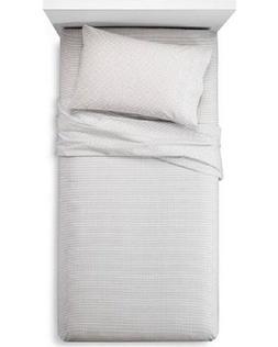 Room Essentials Easy Care Sheet Set - Zigzag Ebony White - S
