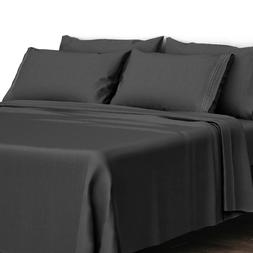 4 Piece Bed Sheet Set 1800 Count Egyptian Comfort Deep Pocke