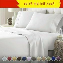 Egyptian Comfort 1800 Count 4/6 Piece Deep Pocket Bed Sheet