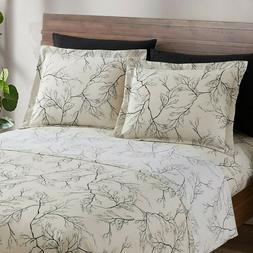 Egyptian Comfort 1800 Count 6 Piece Bed Sheet Set Deep Pocke