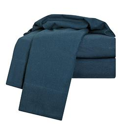 Clara Clark 100-Percent Egyptian Cotton Flannel 4-Piece Bed