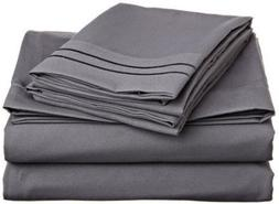LaxLinen 500 Thread Count 100% Egyptian Cotton 4PC Bed Sheet