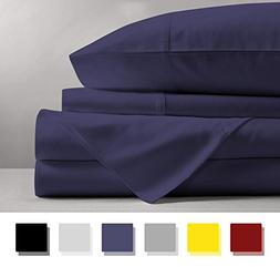 Mayfair Linen 100% EGYPTIAN COTTON Sheets, PLUM KING Sheets