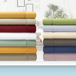 1200 Thread Count Egyptian Cotton Solid Deep Pocket Sheet Se