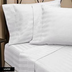 New  100% Egyptian Cotton 4-Pieces Suite Room Sheet Set King