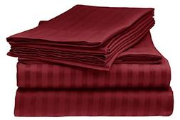 ELEGANTE 1800 Count Egyptian Comfort Striped 4pc King Bed Sh