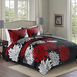 Comfort Spaces Enya Quilt Mini Set - 3 Piece – Black and R