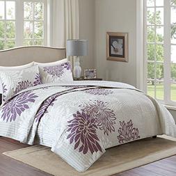 Comfort Spaces – Enya Quilt Mini Set - 3 Piece – Purple