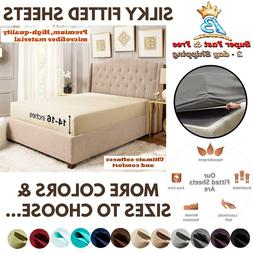 Extra Deep Pocket Bottom Fitted Sheet Luxurious Tight Smart