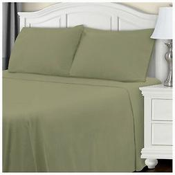 Blue Nile Mills Extra Soft Fitted Sheet, Sage Solid, Califor
