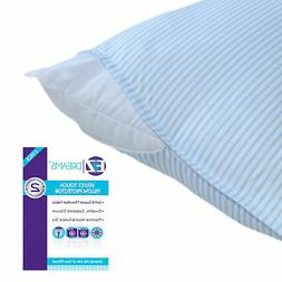Ez Dreams King Size Velvet Touch Striped Pillow Protector: M