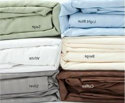 Fine 400 Thread Count 100% Cotton Sateen Bed Sheet Dobby Str