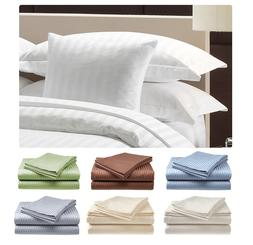 Fine 500 Thread Count 100% Cotton Sateen Bed Sheet Dobby Str