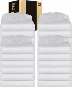 Fitted Sheet Deep Pocket Brushed Velvety Pack of 6 White Uto
