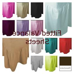 Fitted Valance Sheet, Plain Dyed, Poly-Cotton,