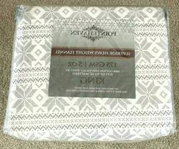 Pointehaven Flannel Deep Pocket Set with Oversized Flat Shee