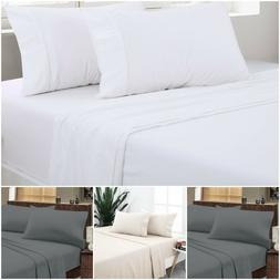 Flat Sheet Collection Wrinkle Free Soft Sold Sheets 100% Cot