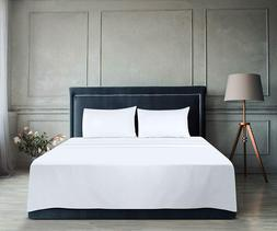 Flat Sheet Soft Brushed Microfiber Breathable Hotel Quality