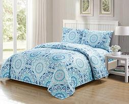4 Piece Floral Bed Sheets By MarCielo, Ultra Soft Brushed Mi