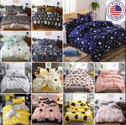 Floral Duvet Cover   Bedding Set  Cover  Soft Bed Sheets Pil