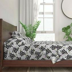 Fruit Polka Dots Block Home Kitchen 100% Cotton Sateen Sheet