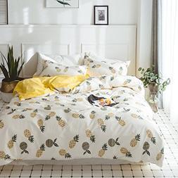 LELVA Fruit Printed Duvet Cover Set Teen Reversible Kids Bed