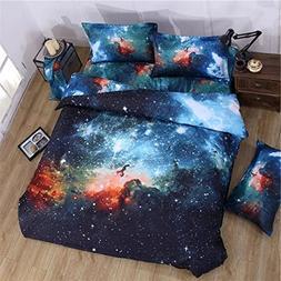 Galaxy Print 3D Duvet Cover Bedding Sets California King Siz