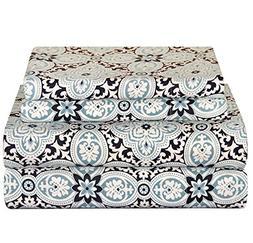 Du 4pc Girls Light Blue King Deep Pocket Sheet Set, Luxuriou