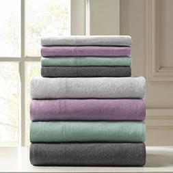 Urban Habitat Heathered King Bed Sheets, Casual 100% Cotton