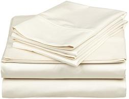 Heavy Weight Egyptian Cotton, Hotel Classic Ivory Solid 4 Pi