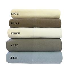 Royal's Heavy Soft 100% Cotton Flannel Sheets, 5pc Bed Sheet